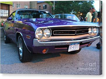 1971 Challenger Front And Side View Canvas Print by John Telfer