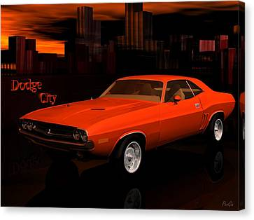 1971 Challenger Canvas Print by John Pangia