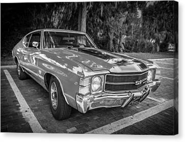 1971 Chevy Chevelle 454 Ss Painted Bw    Canvas Print