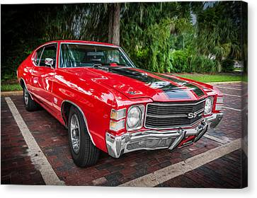 1971 Chevy Chevelle 454 Ss Painted  Canvas Print