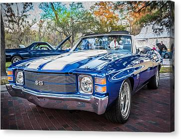 1971 Chevy Chevelle Ss Convertible Ls1 Painted Canvas Print