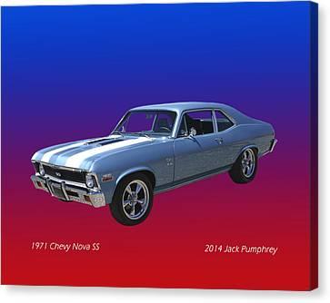 1971 Chevy Nova S S Canvas Print by Jack Pumphrey