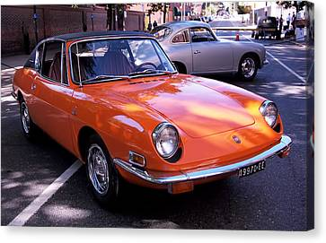 1971 Fiat 850 Spider By Bertone Canvas Print by Rona Black