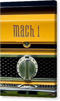 1971 Ford Mustang Mach 1 Emblem -0483c Canvas Print