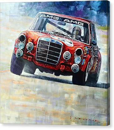 1971 Mercedes-benz Amg 300sel Canvas Print by Yuriy Shevchuk