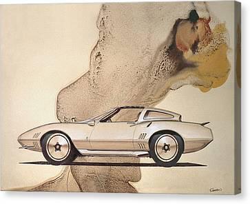1972 Barracuda  A  Cuda Plymouth Vintage Styling Design Concept Rendering Sketch Canvas Print
