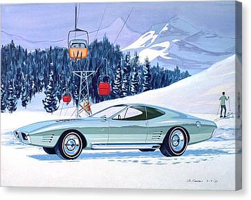 Virgil Canvas Print - 1972 Barracuda Cuda Plymouth  Vintage Styling Design Concept Rendering Sk by John Samsen