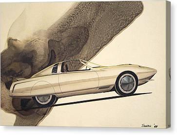 1972 Barracuda  Cuda Plymouth Vintage Styling Design Concept Rendering Sketch Canvas Print