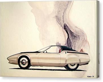 1972 Barracuda  Cuda Plymouth Vintage Styling Design Concept Sketch C69b Canvas Print