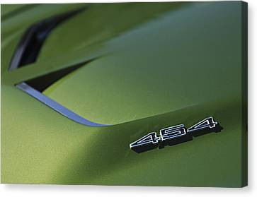 1972 Chevrolet Corvette Convertible Stingray 454 Hood Canvas Print