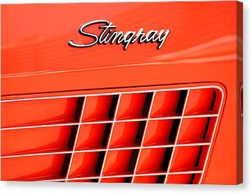 1972 Chevrolet Corvette Stingray Emblem 3 Canvas Print by Jill Reger