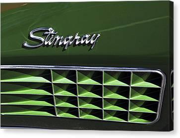 1972 Chevrolet Corvette Stingray Emblem Canvas Print by Jill Reger