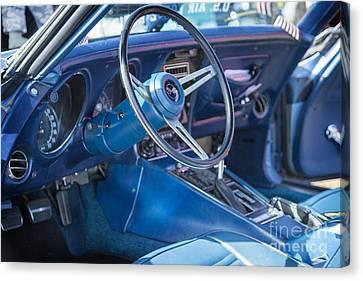 1972 Chevrolet Corvette Stingray Interior Blue 3031.02 Canvas Print by M K  Miller