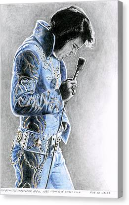 Elvis Canvas Print - 1972 Light Blue Wheat Suit by Rob De Vries