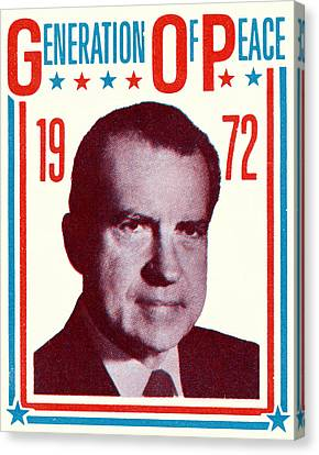 1972 Nixon Presidential Campaign Canvas Print by Historic Image