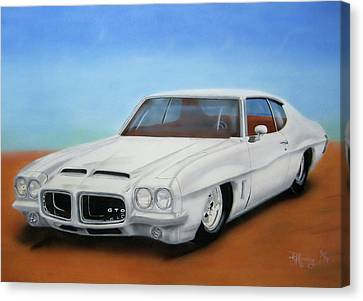 Canvas Print featuring the painting 1972 Pontiac Gto by Thomas J Herring