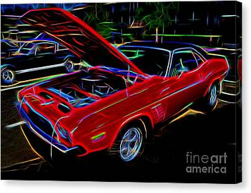 1973 Dodge Challenger - Classic Muscle Car  Canvas Print by Gary Whitton