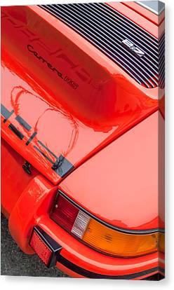 1973 Porsche 911 Carrera Rs Lightweight Rear Emblem Canvas Print by Jill Reger