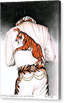 1974 Mad Tiger Suit Canvas Print by Rob De Vries