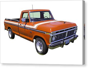 1975 Ford F100 Explorer Pickup Truck Canvas Print by Keith Webber Jr