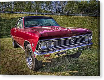 1976 Chevelle Ss 396 Canvas Print by Debra and Dave Vanderlaan