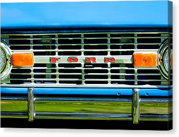 1976 Ford Bronco Grille Emblem -3275c Canvas Print