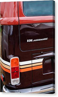1978 Volkswagen Vw Champagne Edition Bus Taillight Emblem Canvas Print by Jill Reger