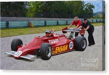 1979 Ensign N179 Formula One Canvas Print by Tad Gage