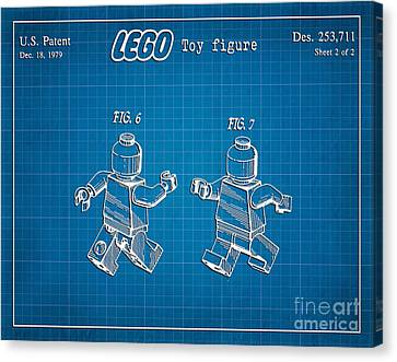 1979 Lego Minifigure Toy Patent Art 2 Canvas Print by Nishanth Gopinathan