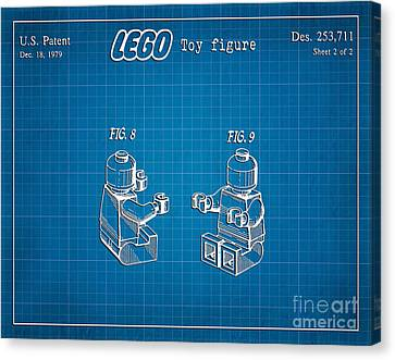 1979 Lego Minifigure Toy Patent Art 3 Canvas Print by Nishanth Gopinathan