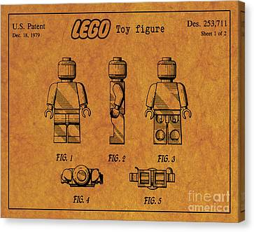 1979 Lego Minifigure Toy Patent Art 4 Canvas Print by Nishanth Gopinathan