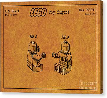 1979 Lego Minifigure Toy Patent Art 6 Canvas Print by Nishanth Gopinathan