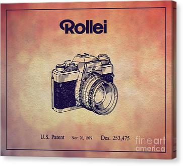 1979 Rollei Camera Patent Art 1 Canvas Print by Nishanth Gopinathan