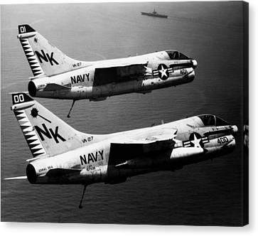 1979 Us Navy A-7 Corsairs Canvas Print by Historic Image