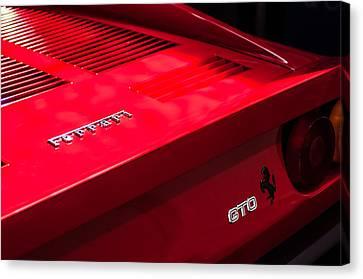 1985 Ferrari 288 Gto Taillight Emblem Canvas Print by Jill Reger