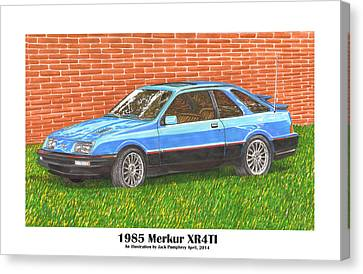 1985 Merkur X R 4 T I Canvas Print by Jack Pumphrey