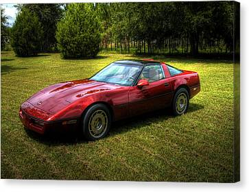 1986 Corvette Canvas Print by Donald Williams