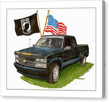 1988 Chevrolet M I A Tribute Canvas Print by Jack Pumphrey