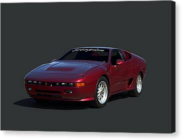 Canvas Print featuring the photograph 1988 Fireo Scorpion Kit Car by Tim McCullough