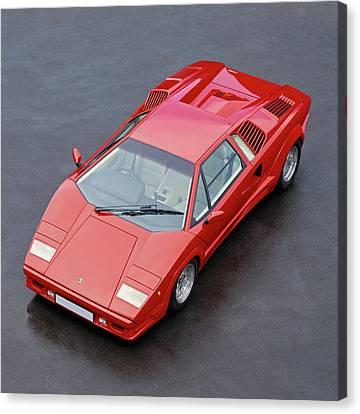 1990 Lamborghini Countach Qv Canvas Print