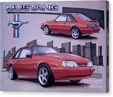 1993 Ford Mustang Canvas Print