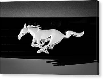 1994 Ford Mustang Cobra Custom Convertible Emblem Canvas Print by Jill Reger