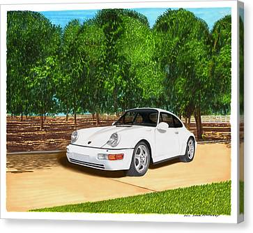 1994 Porsche 964 Wide Body Canvas Print