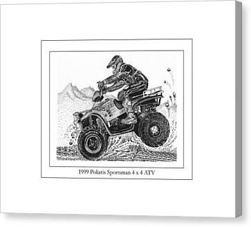 1999 Polaris Off Road  Canvas Print by Jack Pumphrey