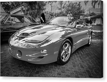 1999 Pontiac Trans Am Anniversary Edition Painted Bw    Canvas Print by Rich Franco