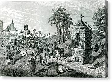 1874 Canvas Print - 19th C Brahman Ceremony by Collection Abecasis
