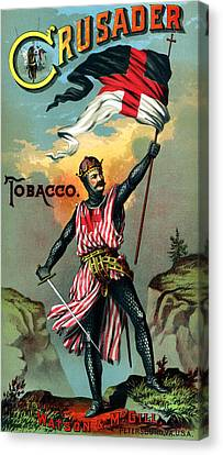 19th C. Crusader Brand Tobacco Canvas Print by Historic Image