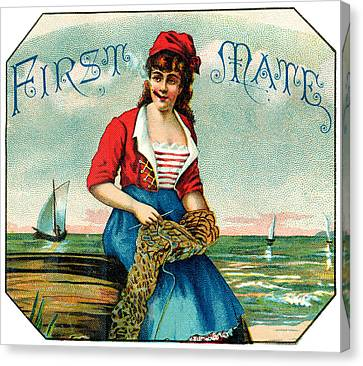 19th C. First Mate Cigars Canvas Print by Historic Image