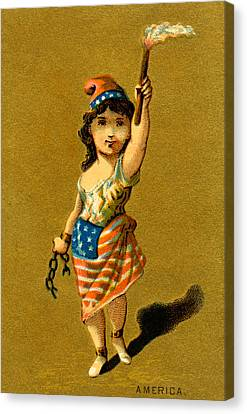 19th C. Lady Liberty  Canvas Print
