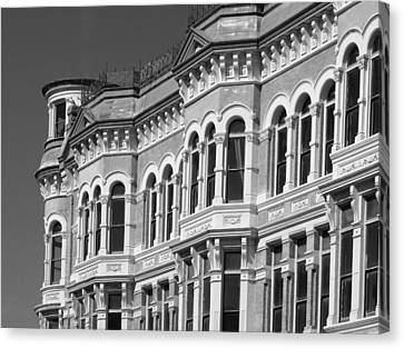 19th Century Architecture Bw Canvas Print by Connie Fox